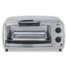 Toaster Oven, 4-Slice, 11.1 X 17.4 X 9 1/2, Stainless Steel