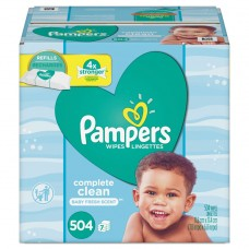 COMPLETE CLEAN BABY WIPES, 1 PLY, BABY FRESH, 504/PACK