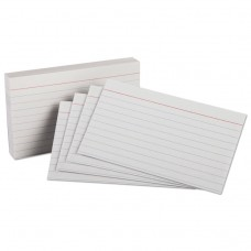 HEAVYWEIGHT RULED INDEX CARDS, 3 X 5, WHITE, 100/PK