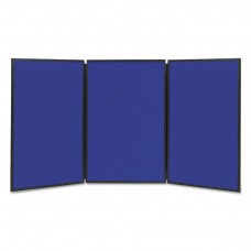 Show-It! Display System, 72 X 36, Blue/gray Surface, Black Frame