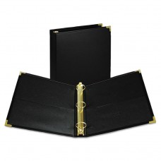 """Classic Collection Ring Binder, 11 X 8 1/2, 1 1/2"""" Cap, Black"""