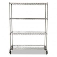 Prosave Shelf Ingredient Bin Cart, Four-Shelf, 50w X 18d X 67 1/4h, Chrome