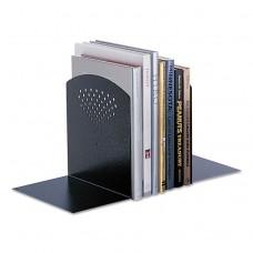 Bookends, Nonskid, 10 X 6 1/2 X 10 1/2, Heavy Gauge Steel, Black