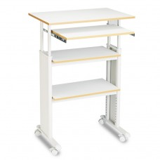 Adjustable Height Stand-Up Workstation, 29w X 22d X 49h, Gray