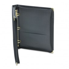 """Classic Collection Zippered Ring Binder, 11 X 8 1/2, 1 1/2"""" Cap, Black"""