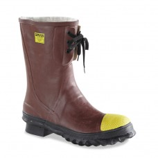Insulated Steel Toe Boots, Poly Rubber, Size 12
