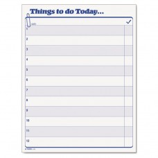 """""""Things To Do Today"""" Daily Agenda Pad, 8 1/2 X 11, 100 Forms"""