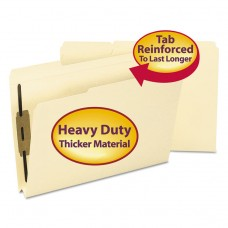 1 1/2 Inch Expansion Folders, Two Fasteners, 1/3 Top Tab, Legal, Manila, 50/box