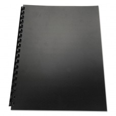 100% Recycled Poly Binding Cover, 11 X 8-1/2, Black, 25/pack