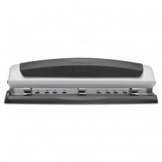 """10-Sheet Precision Pro Desktop Two-To-Three-Hole Punch, 9/32"""" Holes"""
