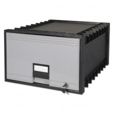 """Archive Drawer For Legal Files Storage Box, 24"""" Depth, Black/gray"""