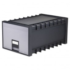 """Archive Drawer For Letter Files Storage Box, 18"""" Depth, Gray"""