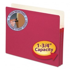 """1 3/4"""" Exp Colored File Pocket, Straight Tab, Letter, Red"""