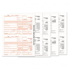 1099-Misc Tax Forms, 5-Part, 5 1/2 X 8, Inkjet/laser, 50 1099s & 1 1096