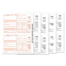1099-Int Tax Forms, 5-Part, 5 1/2 X 8, Inkjet/laser, 24/pack