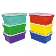 """Cubby Bins, 12.2"""" X 7.8"""" X 5.1"""", Assorted, 6/pack"""