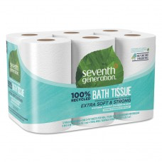 100% Recycled Bathroom Tissue, 2-Ply, White, 240 Sheets/roll, 12/pack