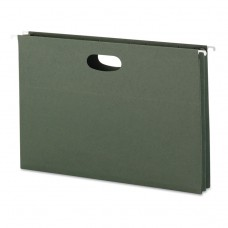 """1 3/4"""" Cap Hanging Pockets W/full-Height Gussetts, Legal, Green, 25/box"""