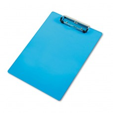 """Acrylic Clipboard, 1/2"""" Capacity, Holds 8-1/2w X 12h, Transparent Blue"""