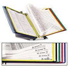 Foldfive Desk Unit W/display Pockets, 10 Pockets, 5 Tabs